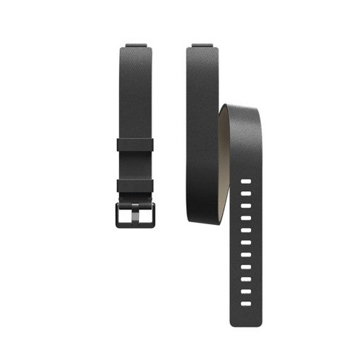 Fitbit Inspire Activity Tracker Double Leather Wrap Band - Black