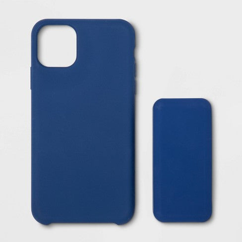 heyday™ Apple iPhone 11 Pro Silicone Case (with 4000mAh Power Bank) - Dark Blue