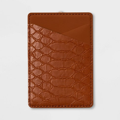 heyday™ Cell Phone Wallet Pocket - Tan Crocodile