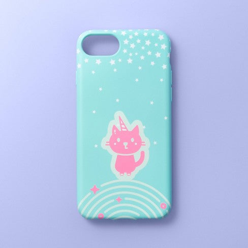 Apple iPhone 8/7/6s/6 Case - More Than Magic™ - Teal/Pink Kittycorn