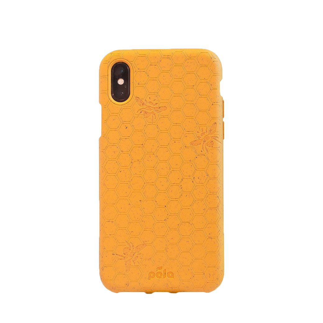 Pela Earth Apple iPhone X/XS Eco-Friendly Case - Honey (Bee Edition)