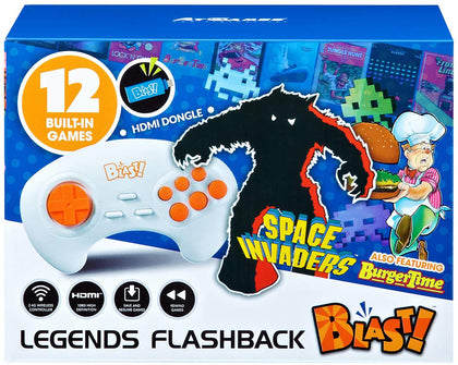 Legends Flashback Blast!, Space Invaders, Retro Gaming, Blue