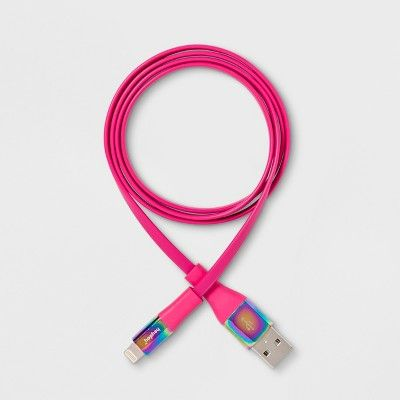 heyday™ 3' Lightning to USB-A Flat Cable - Pizzazz Pink