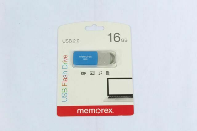 Memorex 16GB Flash Drive USB 2.0 - Blue (32020001621)