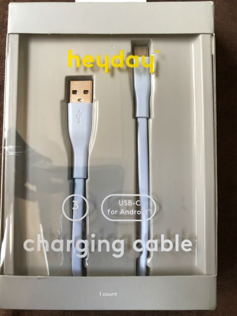 heyday™ 3' Lightning to USB-A Flat Cable - Whimsical Blue
