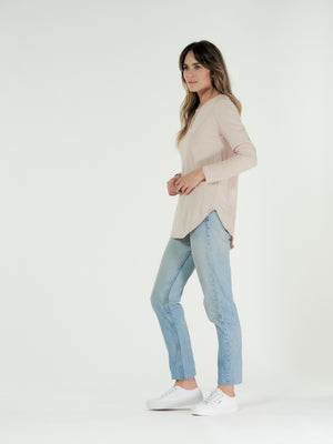 Clè Layla Long Sleeve Tee-Blush