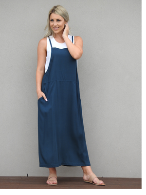Apron Dress-Teal