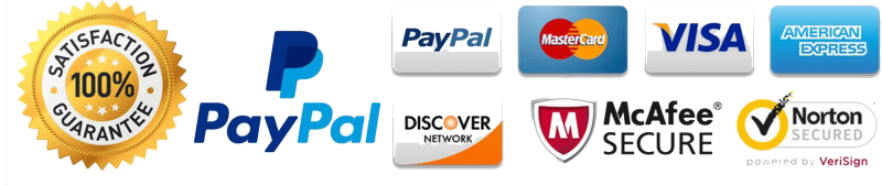Trust Badge - PayPal, Mastercard, Visa, AmEx, McAfee, Apple Pay, Shopify, SSL
