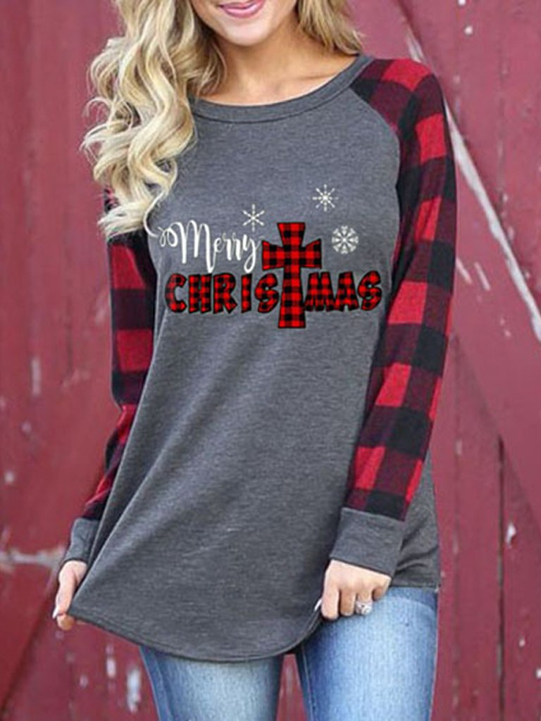 Crew Neck Long Sleeve Shirts T-shirts