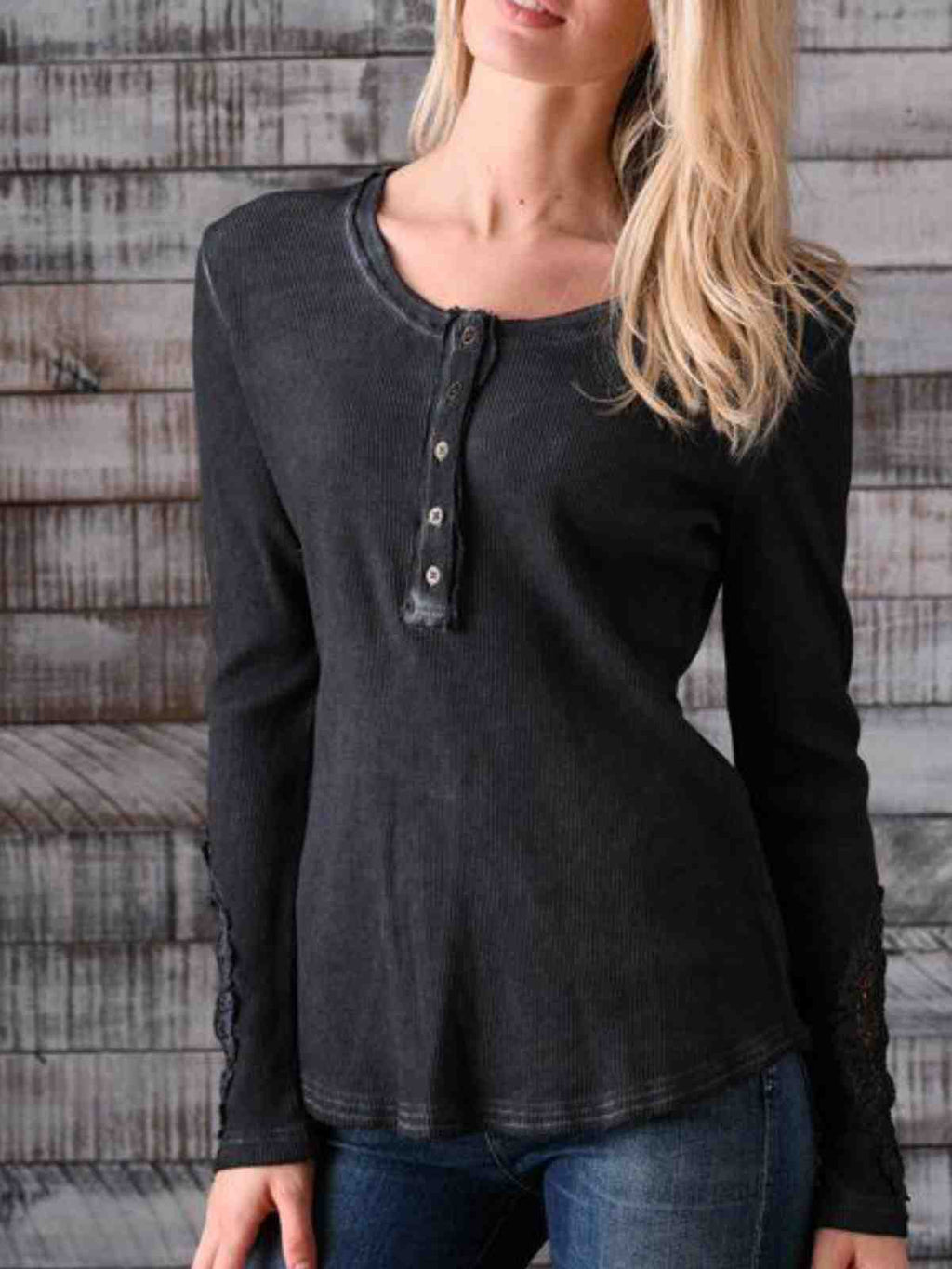 Black Casual Cotton-Blend Shirts & Tops