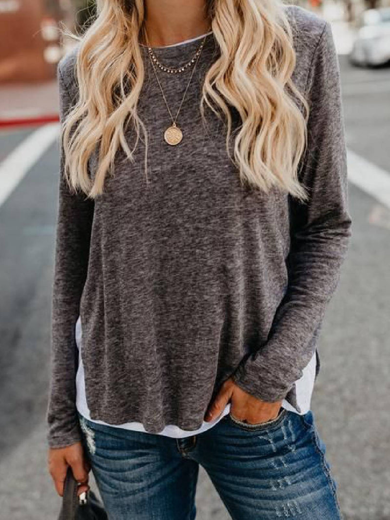 Long Sleeve Solid Cotton-Blend Shirts