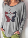 Long Sleeve Vintage Round Neck Shirts & Tops