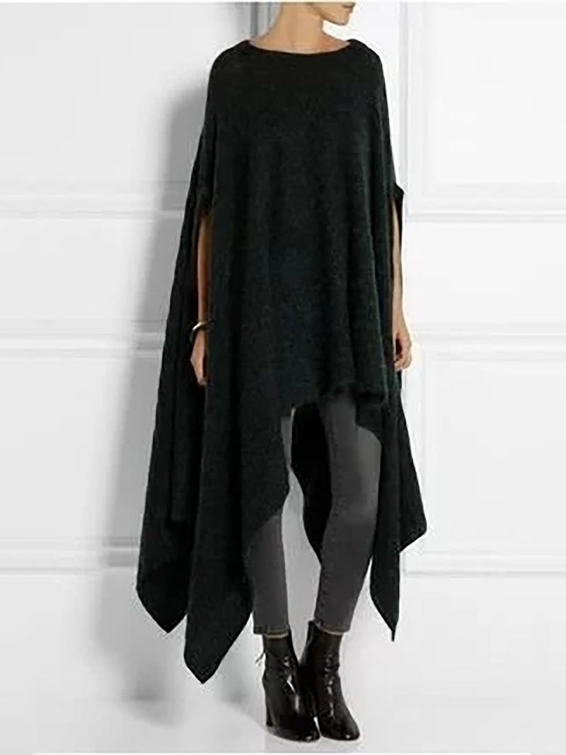 Asymmetric Hem Batwing Sleeve Plus Size Shirts