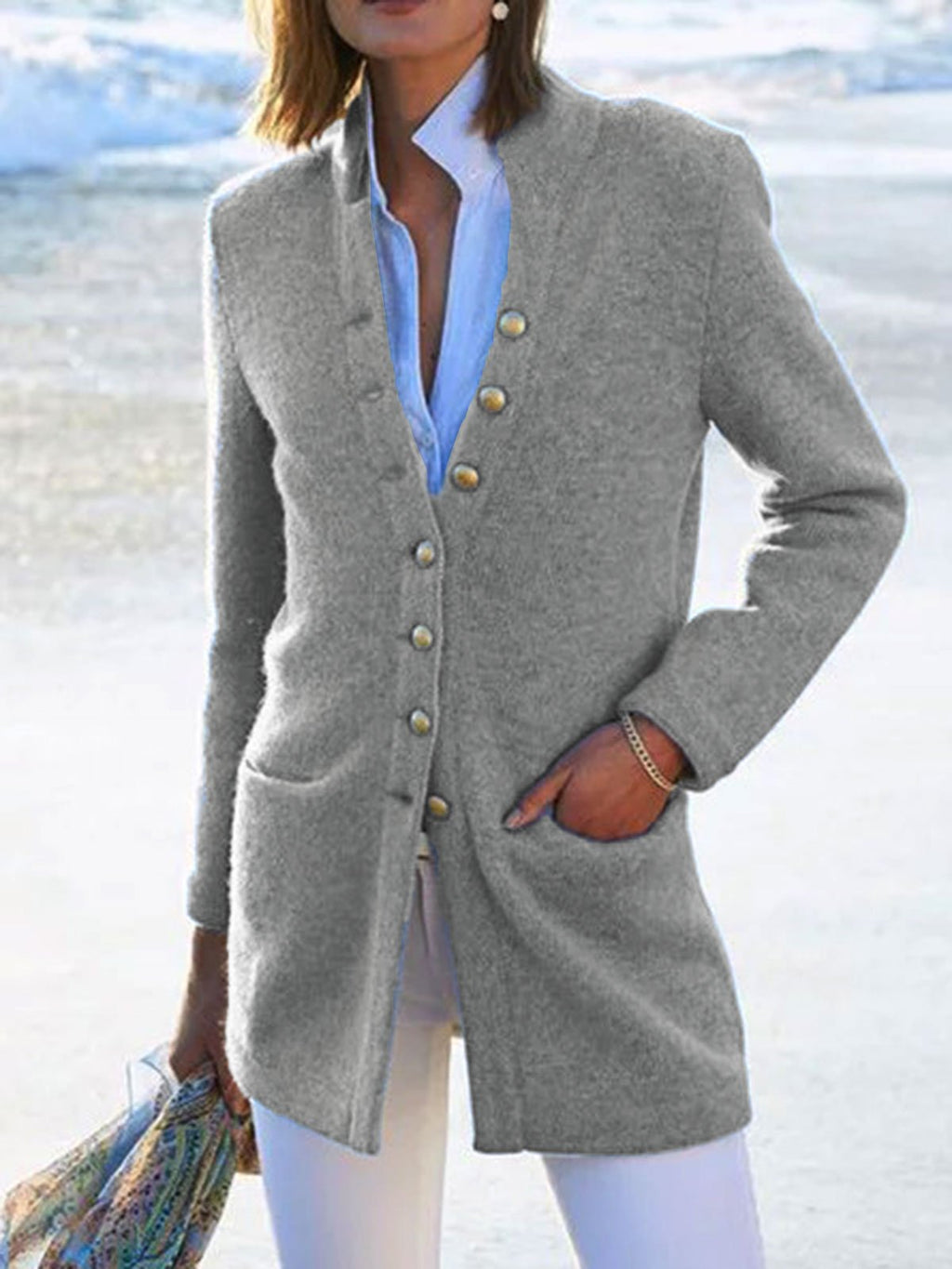 Casual Cotton-Blend Long Sleeve Outerwear Winter Coats