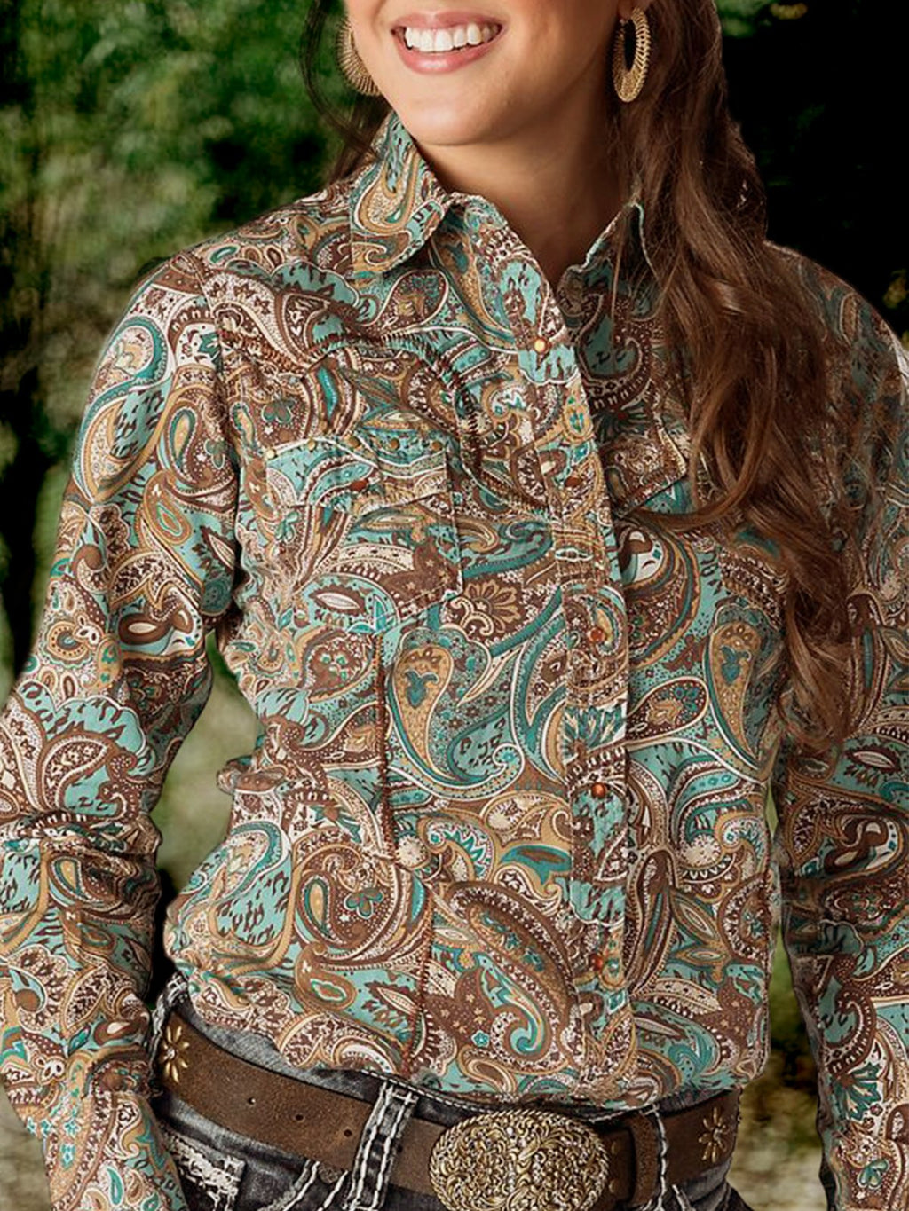 Tribal Long Sleeve Shirt Collar Shirts