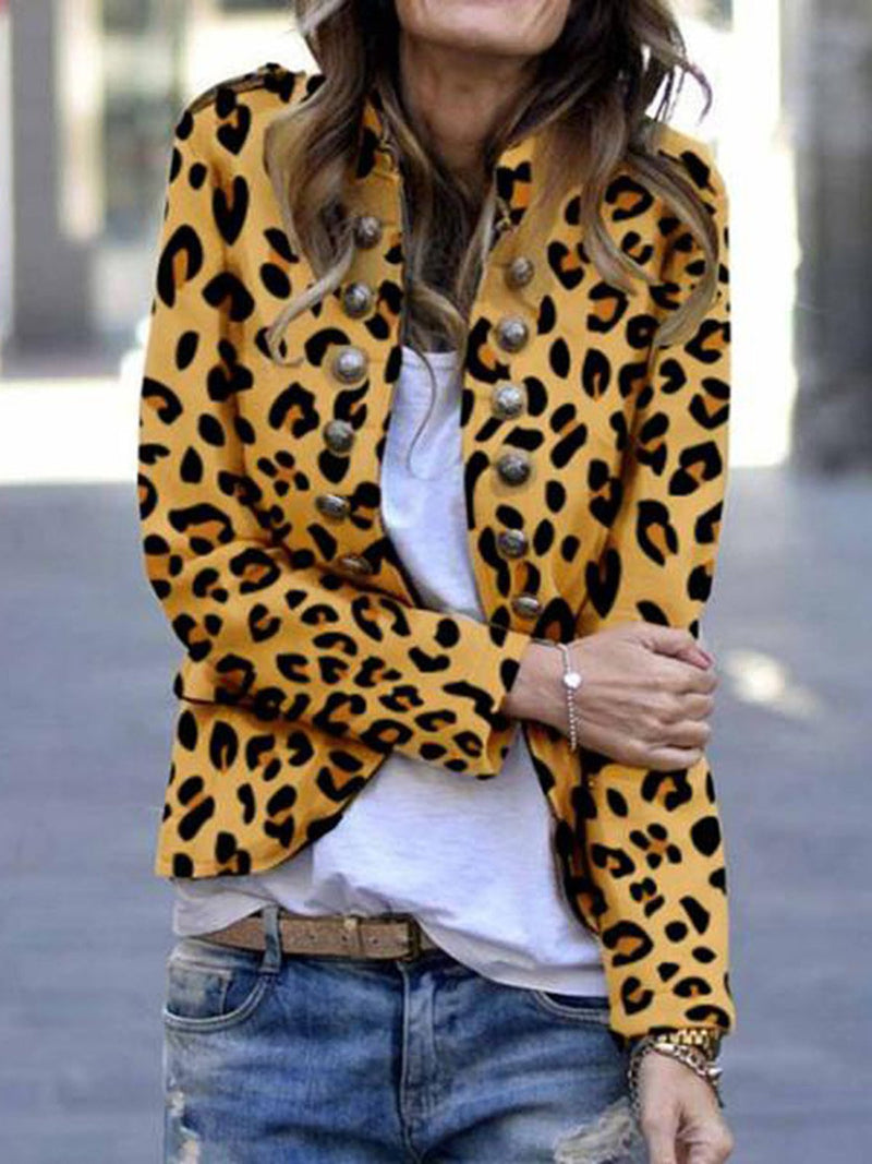 6 Colors Leopard Pockets Solid Coats