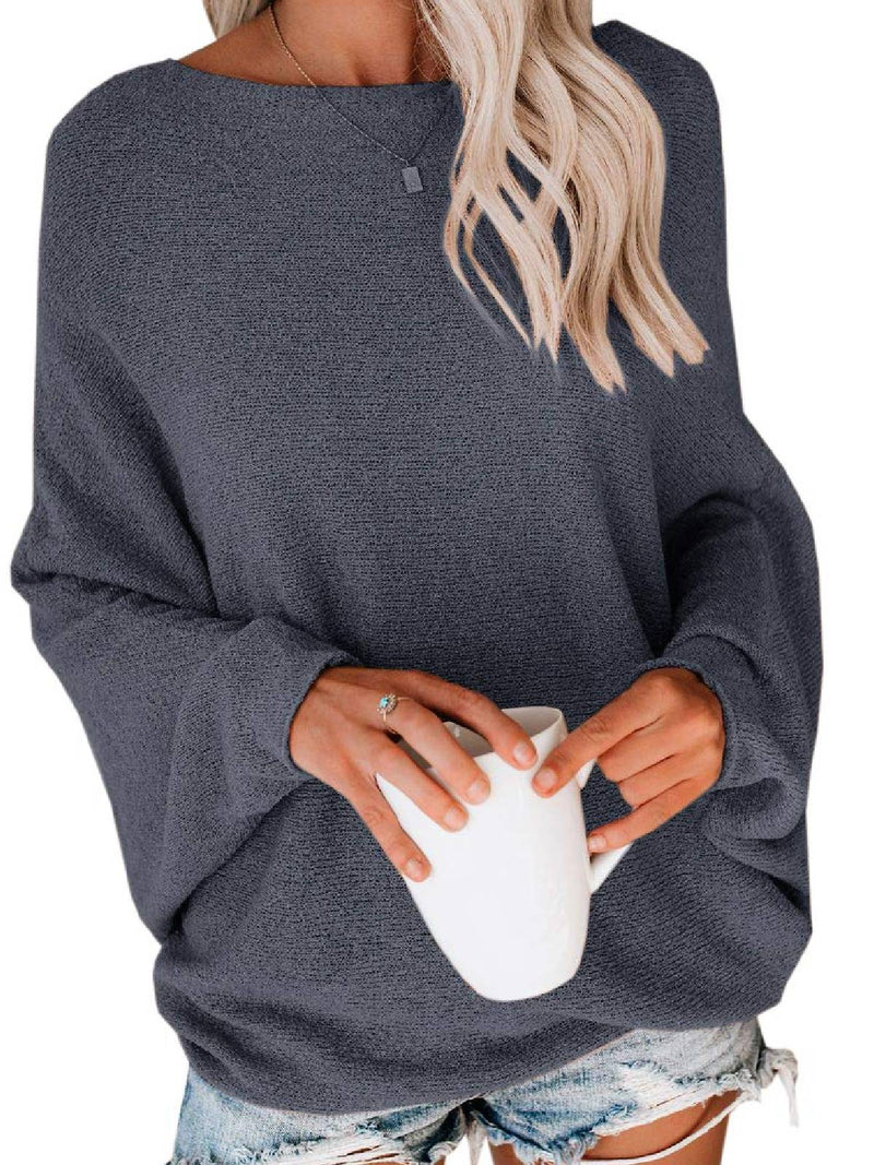 Long Sleeve Round Neck Cotton-Blend Shirts & Tops