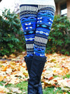Blue Casual Cotton-Blend Pants