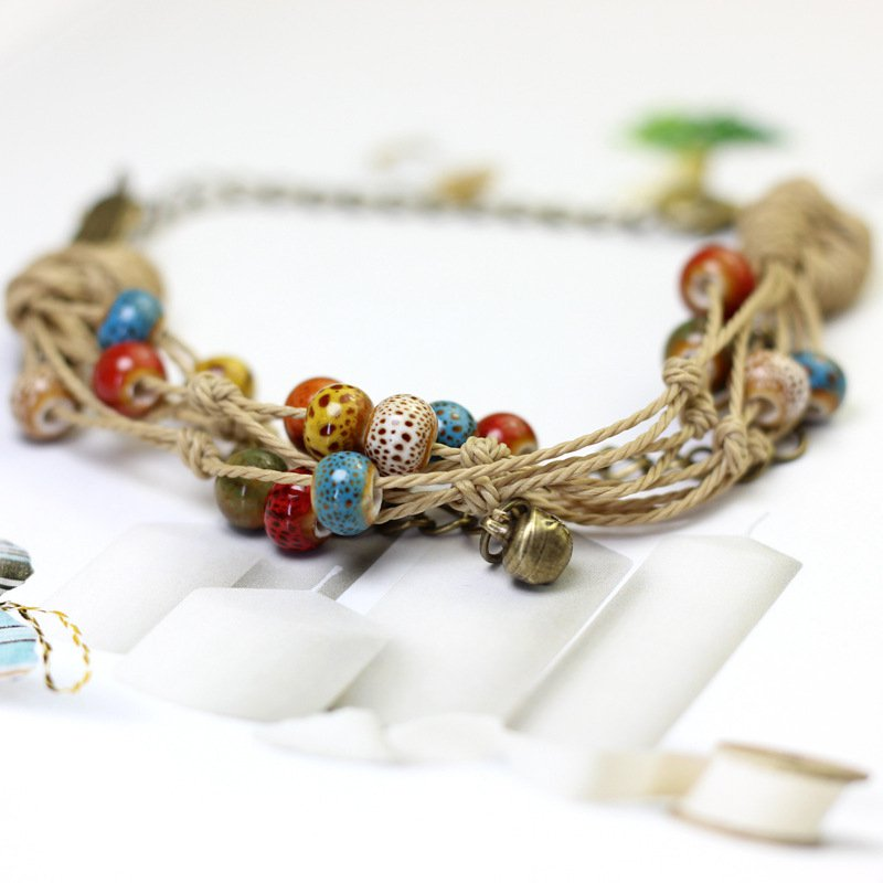 Bohemian ceramic multi-layer ethnic wind bracelet