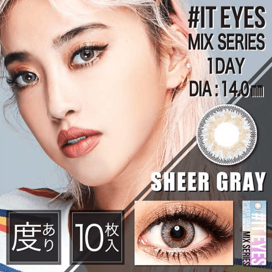 mimibuy.com 美瞳 #IT EYES MIX SERIES 浅灰色SheerGray日抛10片装