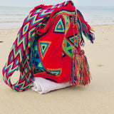 Handmade Wayuu  Mochila Shoulder Bag - nappyworlduk