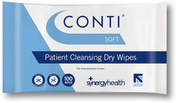 Conti Soft Large Dry Patient Wipes-Pack of 100 - nappyworlduk