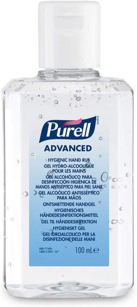 Purell Advanced Hand Gel 100ml Press  Top Lid - nappyworlduk