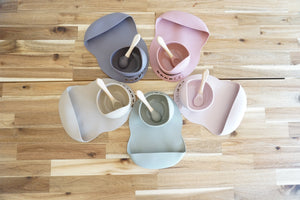 SILICONE BABY BIB AND BOWL SET