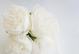 LARGE FAUX PEONIES BOUQUET