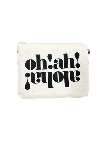 Oh! Ah! Aloha! - Small Clutch Natural