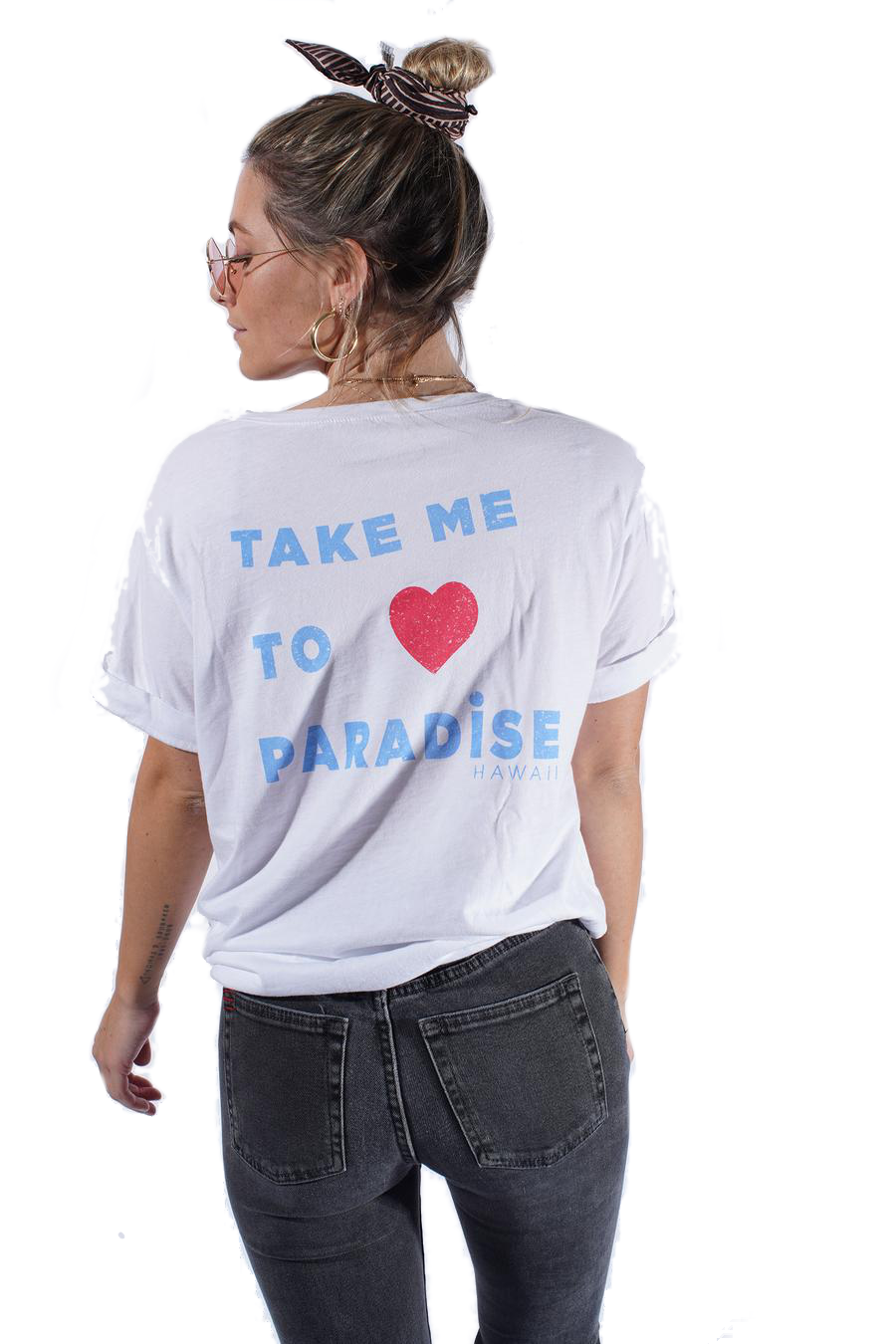 Take me To Paradise - Boyfriend Tee White