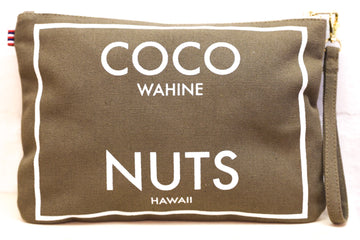 Coco Nuts - Large Clutch Olive