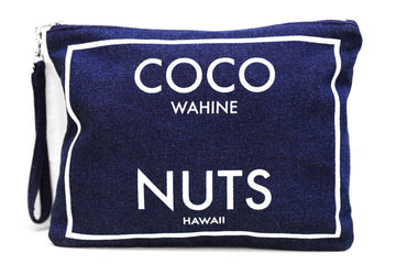 Coco Nuts - Large Clutch Dark Wash