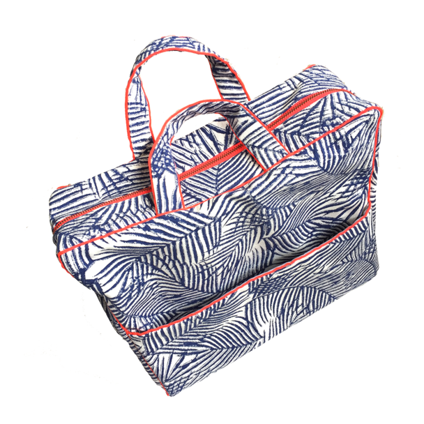 Blue Frond Travel Bag