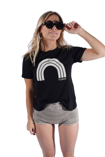 Kawaii Hawaii - Black Ringer Tee
