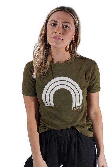 Kawaii Hawaii - Army Ringer Tee
