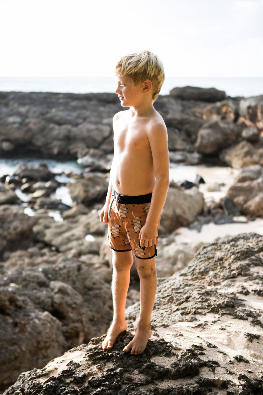 Kids Mountain Flower Boardshort