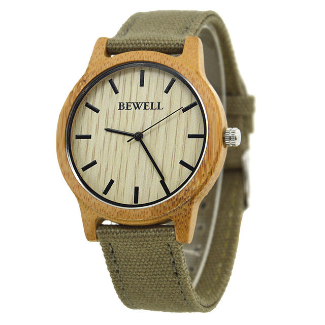 Luxury Bamboo/Canvas Wristwatch - Univia