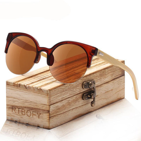 Wooden Unisex Sunglasses with Bamboo Frame - Univia