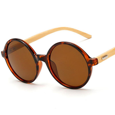 Round Bamboo Sunglasses for Women & Men - Univia