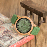 Women's Silicone-banded Wooden Wristwatch - Univia