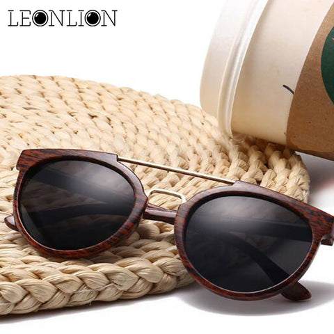 Vintage Wood Grain Sunglasses - Univia
