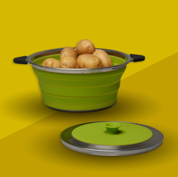 Collapsible Saucepan with Lid