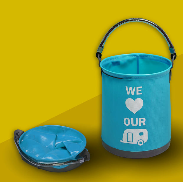 "Collapsible ""We Love our Caravan"" Bucket"
