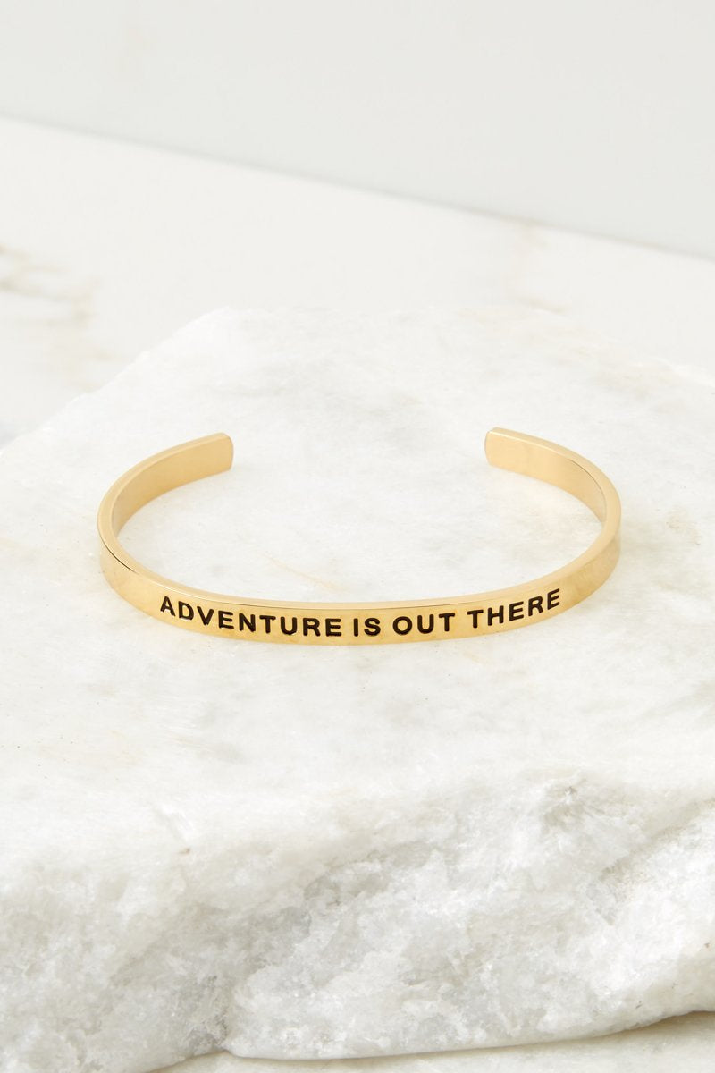 Adventure Is Out There Gold Bracelet