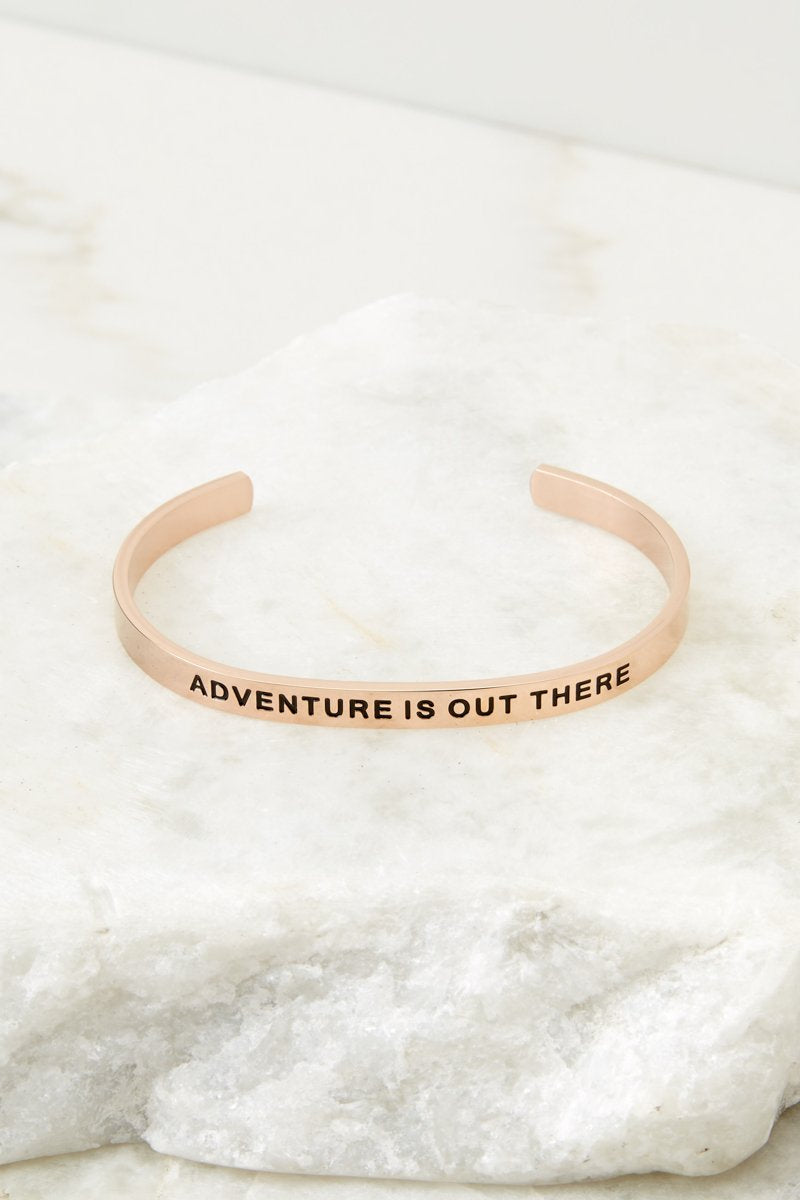 Adventure Is Out There Rose Gold Bracelet