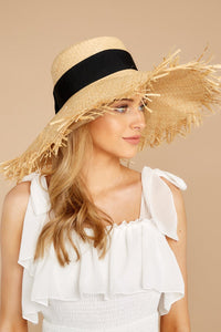 Bite Of Life Beige Wide Brim Hat