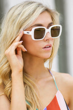 Load image into Gallery viewer, 20's White Sunglasses