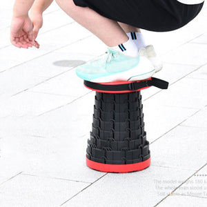 Retractable Stool Collapses Down To Just 2.5 Inches