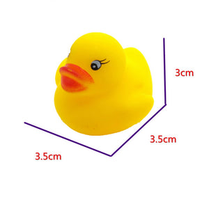 12pcs Mini Colorful Duck Bath Float